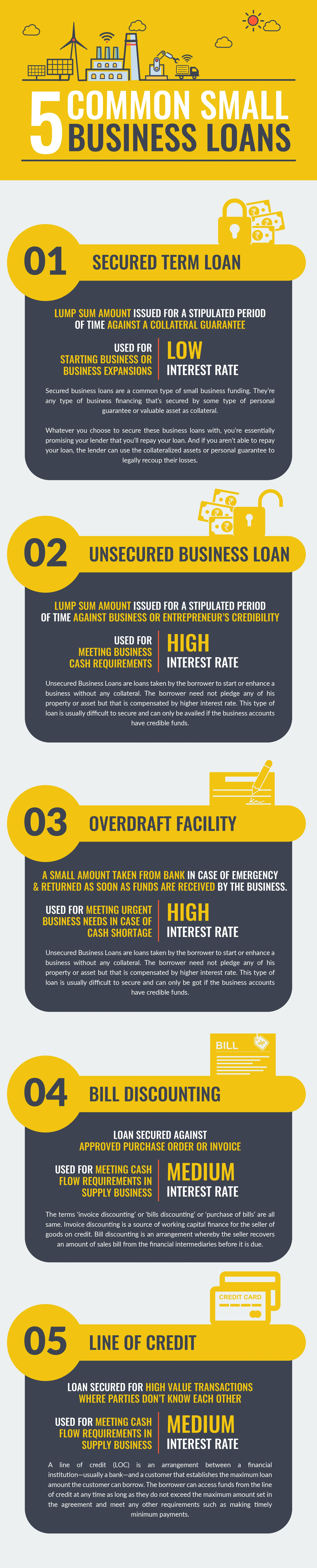 Types of Small Business Loan Infographic